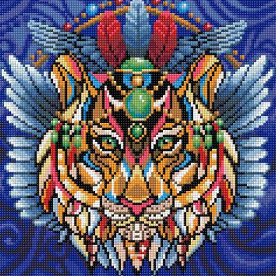 Набор алмазной вышивки Алмазная живопись Тигриный талисман / АЖ-1593