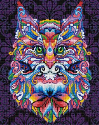 Набор алмазной вышивки Алмазная живопись Мистический кот / АЖ-1596