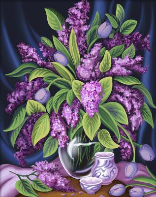 Набор алмазной вышивки Алмазная живопись Роскошная сирень / АЖ-1629