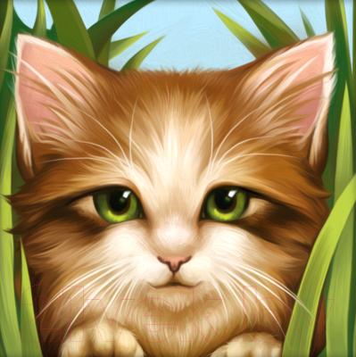 Набор алмазной вышивки Алмазная живопись Зеленоглазый котенок / АЖ-1640
