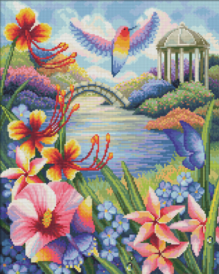 Набор алмазной вышивки Алмазная живопись Цветущий сад / АЖ-1666