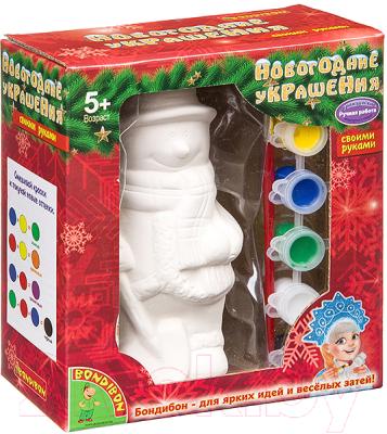 Набор для творчества Bondibon Новогодние украшения Снеговик / ВВ1700