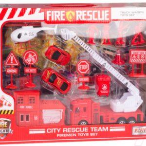 Набор игрушечной техники Huada Пожарная часть / 1708701-991