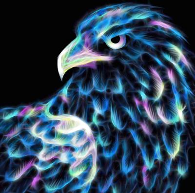 Набор алмазной вышивки Алмазная живопись Неоновый орел / АЖ-1712