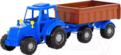 Трактор игрушечный Полесье Алтай №1 с прицепом / 84750