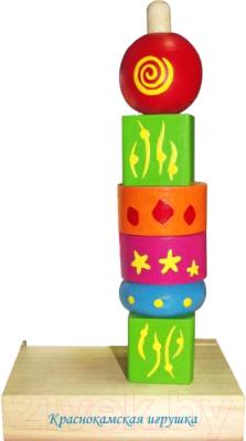 Развивающая игра Краснокамская игрушка Пирамидка Геометрия / ПИР-18