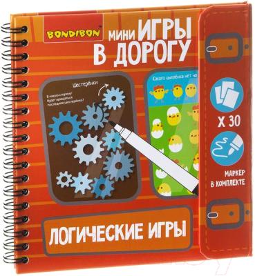 Развивающая книга Bondibon Логические игры в дорогу / ВВ1956
