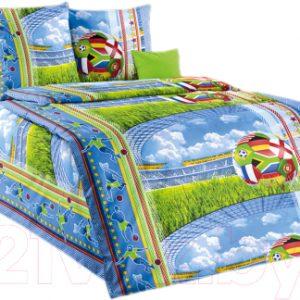 Комплект постельный в кроватку Моё бельё Матч 1