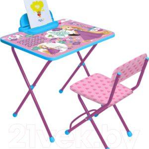 Комплект мебели с детским столом Ника Д1Р-М Disney 1. Рапунцель