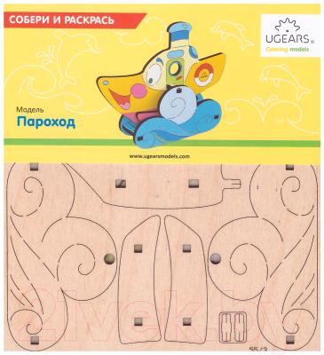 Сборная игрушка Ugears Пароход 20003