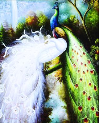 Набор алмазной вышивки Алмазная живопись Величественные павлины / АЖ-204