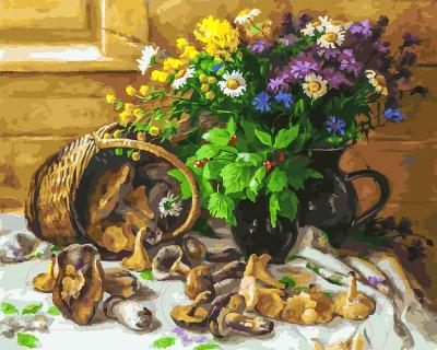 Картина по номерам БЕЛОСНЕЖКА Букет и грибы / 226-AB