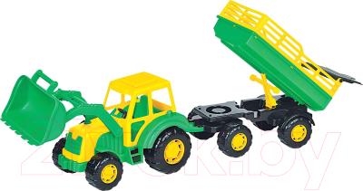 Трактор игрушечный Полесье Алтай №2 с прицепом и ковшом / 35363