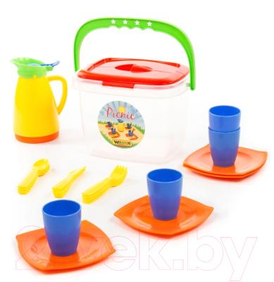 Набор игрушечной посуды Полесье Алиса для пикника №2 / 40763