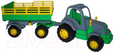 Трактор игрушечный Полесье Крепыш №2 с прицепом / 44563