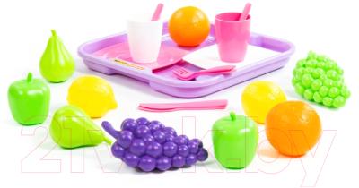 Набор игрушечных продуктов Полесье Набор продуктов №2 с посудкой и подносом / 46970