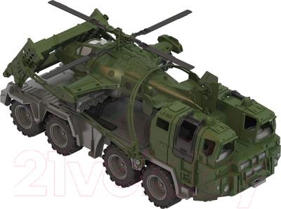 Автомобиль игрушечный Нордпласт Военный тягач. Щит с вертолетом / 256