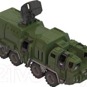 Автомобиль игрушечный Нордпласт Военный тягач. Щит с кунгом / 257