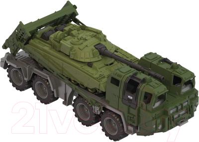 Набор игрушечной техники Нордпласт Военный тягач Щит с танком 258