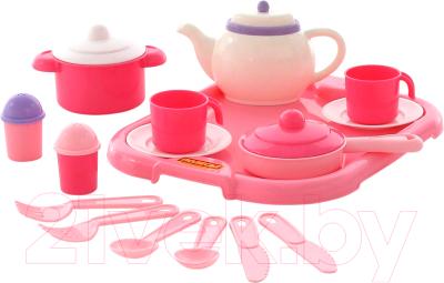 Набор игрушечной посуды Полесье Настенька с подносом на 2 персоны / 59000