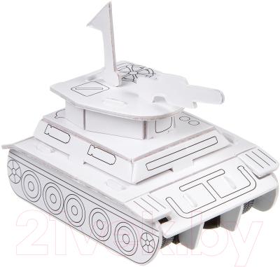 Сборная игрушка Bondibon Танк с инерционным механизмом 2613C-H / ВВ2221