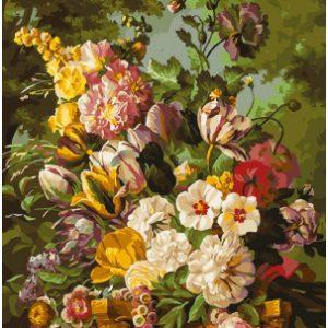 Картина по номерам БЕЛОСНЕЖКА Букет в саду / 265-AS
