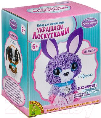 Набор для творчества Bondibon Украшаем лоскутками. Кролик / ВВ2815