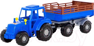 Трактор игрушечный Полесье Алтай №2 с прицепом / 84767
