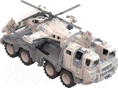 Набор игрушечной техники Нордпласт Военный тягач Арктика с вертолетом 286