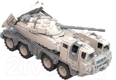 Автомобиль игрушечный Нордпласт Военный тягач. Арктика с танком / 288
