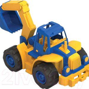 Трактор игрушечный Нордпласт Богатырь мини с ковшом / 298
