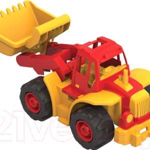 Трактор игрушечный Нордпласт Богатырь мини с грейдером / 299