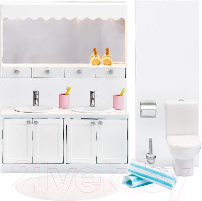 Комплект аксессуаров для кукольного домика Lundby Ванная с 2 раковинами / LB-60208800