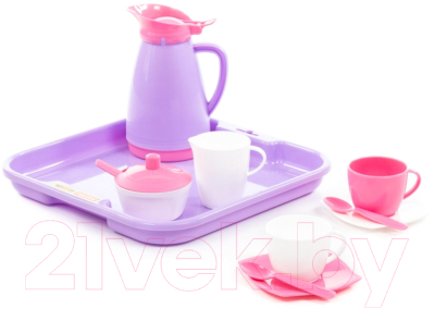 Набор игрушечной посуды Полесье Алиса на 2 персоны Pretty Pink / 40589