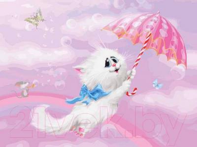 Картина по номерам БЕЛОСНЕЖКА Белая кошечка / 3000-CS