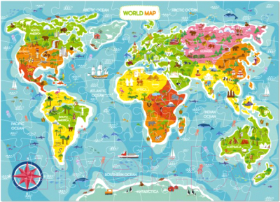 Пазл Dodo Карта мира / 300123