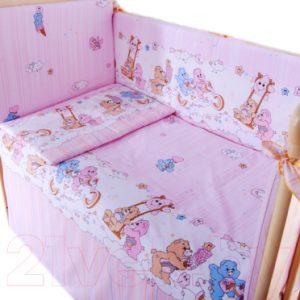 Комплект постельный в кроватку Баю-Бай Забава / К30-З1