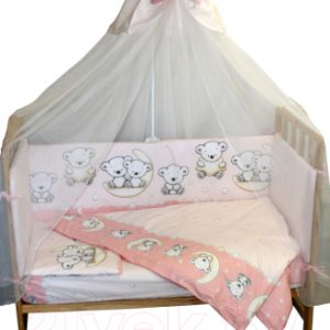 Комплект постельный детский Баю-Бай Ми-ми Мишки / К31-ММ1