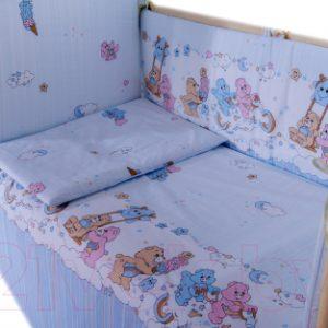 Комплект постельный в кроватку Баю-Бай Забава / К31-З4