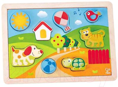Развивающая игрушка Hape Вкладыши. Солнечная Долина 3 в 1 / E1601-HP