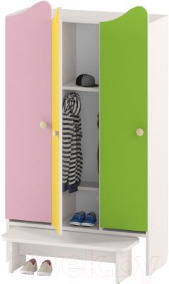 Шкаф для детской одежды Славянская столица ДУ-ШР3-2