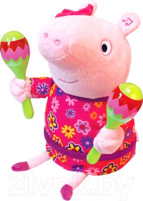 Мягкая игрушка Peppa Pig Пеппа с маракасами / 33757