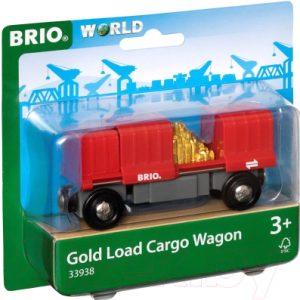 Элемент железной дороги Brio Грузовой вагончик с золотом / 33938