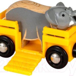 Вагон игрушечный Brio Вагончик со слоном / 33969