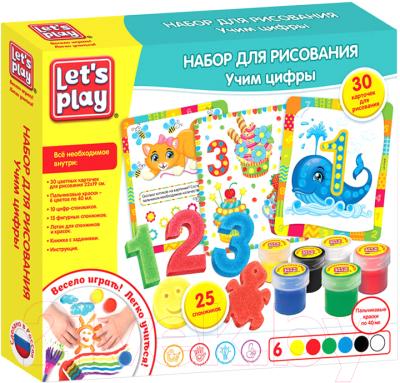 Набор для творчества Let's Play Набор для рисования. Учим цифры / 35847