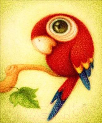 Набор алмазной вышивки Алмазная живопись Красный попугай / АЖ-360