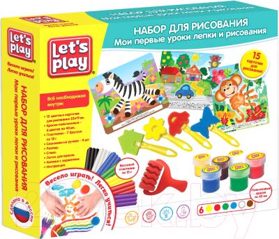 Набор для творчества Let's Play Мои первые уроки лепки и рисования / 36959