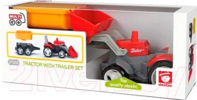 Трактор игрушечный EFKO С дополнительным прицепом / 37055EF-CH