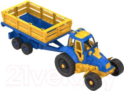 Трактор игрушечный Нордпласт С прицепом / 396