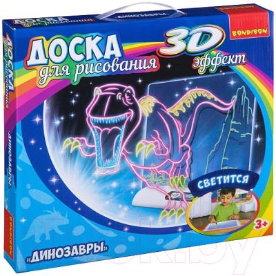 Набор для творчества Bondibon Доска для рисования с 3D. Динозавры / ВВ3114